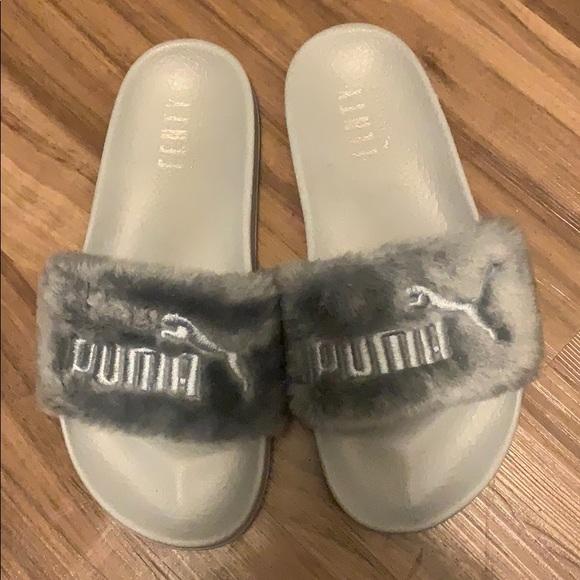 fenty puma slippers grey
